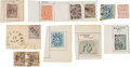 Miscellaneous:Ephemera, Archive of Confederate Provisional Stamps....