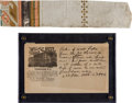 Political:Presidential Relics, A Well-Provenanced Piece of Wallpaper from the Room in Which Lincoln Expired....