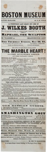 Miscellaneous:Ephemera, John Wilkes Booth: 1864 Boston Museum Playbill....