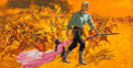 Mainstream Illustration, Frank McCarthy (American, 1924-2002). The Unforgiven, movieposter, 1960. Gouache on board. 19.5 x 37 in. (image). Not s...