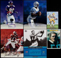 Football Collectibles:Photos, Football Greats Signed Oversized Cards Lot of 6....