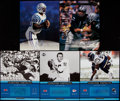 Football Collectibles:Photos, Football Greats Signed Oversized Cards Lot of 5....
