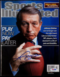 Football Collectibles:Publications, Johnny Unitas Signed Sports Illustrated Magazine....