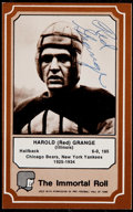 Football Cards:Singles (1970-Now), Red Grange Signed Card....