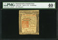 Colonial Notes:Pennsylvania, Pennsylvania April 3, 1772 40s PMG Extremely Fine 40 Net.. ...