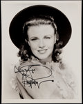 Miscellaneous Collectibles:General, Ginger Rogers Signed Photograph....