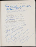 Baseball Collectibles:Publications, Baseball Greats Multi-Signed Hardcover Book....