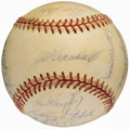 Baseball Collectibles:Hats, 1974 Milwaukee Brewers Team Signed Baseball (22 Signatures) - YountRookie Season....