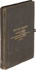 Books:Americana & American History, [United States Geological Survey]. Maps and Panoramas TwelfthAnnual Report... [Washington]: [1878]. First editi...