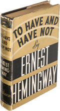 Books:Literature 1900-up, Ernest Hemingway. To Have and Have Not. New York: 1937.First edition....