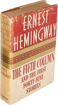 Books:Literature 1900-up, Ernest Hemingway. The Fifth Column and the First Forty-NineStories. New York: 1938. First edition....
