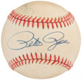 Autographs:Baseballs, Mickey Mantle, Willie Mays and Pete Rose Multi-Signed Baseball....