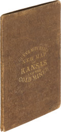 Books:Americana & American History, O[tis].B. Gunn and D[avid]. T. Mitchell. New Map of Kansas andthe Gold Mines (1866). Lawrence (Kansas): Gunn & ...