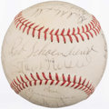 Autographs:Baseballs, 1971 St. Louis Cardinals Team Signed Baseball (18 Signatures)....