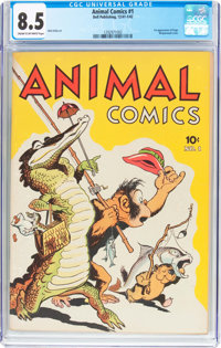 Animal Comics #1 (Dell, 1942) CGC VF+ 8.5 Cream to off-white pages