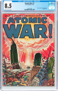 Atomic War! #1 (Ace, 1952) CGC VF+ 8.5 Cream to off-white pages
