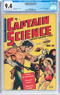 Captain Science #1 (Youthful Magazines, 1950) CGC NM 9.4 Off-white to white pages