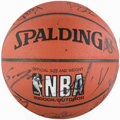 Basketball Collectibles:Balls, 1999 Los Angeles Lakers Team Signed Basketball....