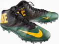 Football Collectibles:Others, 2014 Green Bay Packers Game Worn Cleats....