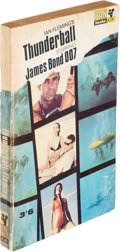 """Books:Mystery & Detective Fiction, [James Bond]. Ian Fleming. Thunderball. London: [1965]. Movie-tie-in edition, fourteenth printing, with """"Domino""""..."""