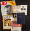 Books:Literature 1900-up, [Ernest Hemingway]. Group of Seven Books and Periodicals. New Yorkand Paris: [1924]-1952.... (Total: 7 Items)