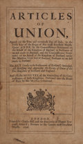 Books:World History, [Scotland]. Articles of Union... [and:] Minutes of the Proceedings... for the Union... London: 1706. Fi...