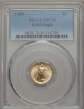 Modern Bullion Coins, 1989 $5 Tenth-Ounce Gold Eagle MS70 PCGS....