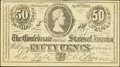 Confederate Notes:1863 Issues, T63 50 Cents 1863 Ad Note Dr. Morse's Indian Root Pills.. ...