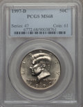 Kennedy Half Dollars, 1997-D 50C MS68 PCGS....
