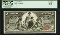 Large Size:Silver Certificates, Fr. 247 $2 1896 Silver Certificate PCGS About New 53.. ...