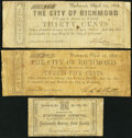 Obsoletes By State:Virginia, A Trio of Virginia Scrip Notes 1861-62... (Total: 3 notes)