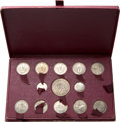 French Colonies, French Colonies: French Colonies bronze-nickel 23-Piece Essai Set 1948-49,... (Total: 23 coins)