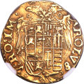 Italy:Naples, Italy: Naples. Charles V gold Scudo ND (1546-1548) MS61 NGC,...