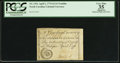 Colonial Notes:North Carolina, North Carolina April 2, 1776 $1/16 Nautilus PCGS Apparent Very Fine35.. ...