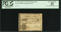 Colonial Notes:North Carolina, North Carolina April 2, 1776 $1/4 Monogram FB PCGS ApparentExtremely Fine 45.. ...