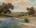 Fine Art - Painting, American:Contemporary   (1950 to present)  , Robert William Wood (American, 1889-1979). Bluebonnets,1954. Oil on canvas. 28 x 36 inches (71.1 x 91.4 cm). Signed low...