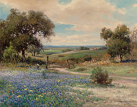 Robert William Wood (American, 1889-1979) Bluebonnets, 1954 Oil on canvas 28 x 36 inches (71.1 x