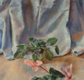 Fine Art - Painting, American:Modern  (1900 1949)  , Henriette Wyeth (American, 1907-1997). Pink Cyclamen and AfricanViolets. Oil on canvas. 24 x 25 inches (61.0 x 63.5 cm)...(Total: 2 Items)