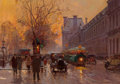Fine Art - Painting, European:Modern  (1900 1949)  , Edouard-Léon Cortès (French, 1882-1969). Quai du Louvre. Oilon canvas. 13 x 18 inches (33.0 x 45.7 cm). Signed lower ri...
