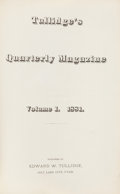 Books:Americana & American History, [Edward W. Tullidge]. Tullidge's Quarterly Magazine, VolumesI-III. Salt Lake City: [1881]-1885. First edition.... (Total: 3Items)