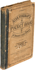 Books:Americana & American History, [Mining]. Thomas J. Foster. The Mine Foreman's Pocket BookAlmanac and Diary... Shenandoah: [1881]. First edition....