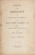 Books:Americana & American History, John L. Leconte. Notes on the Geology of the Survey for theExtension of the Union Pacific Railway... Philadelph...