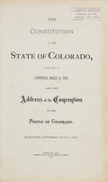 Books:Americana & American History, [Colorado]. Pair of Books. Denver: 1876. First editions....