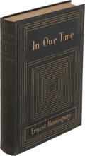 Books:Literature 1900-up, Ernest Hemingway. In Our Time. New York: 1925. Firstedition. ...