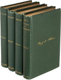 "Books:Literature Pre-1900, Henry David Thoreau. Complete ""Four Seasons"" Books. Boston:1881-1892. First editions, from Thoreau's journal.... (Total: 4Items)"