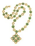 Estate Jewelry:Suites, Jadeite Jade, Diamond, Gold Jewelry Suite. ...