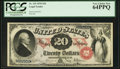 Large Size:Legal Tender Notes, Fr. 129 $20 1878 Legal Tender PCGS Very Choice New 64PPQ.. ...