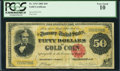 Large Size:Gold Certificates, Fr. 1193 $50 1882 Gold Certificate PCGS Very Good 10.. ...