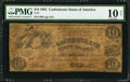 Confederate Notes:1861 Issues, T27 $10 1861 PF-2 Cr. 227.. ...