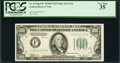 Small Size:Federal Reserve Notes, Fr. 2154-F* $100 1934B Mule Federal Reserve Note. PCGS Very Fine 35.. ...